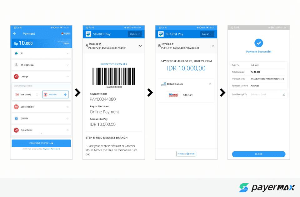 Alfamart收款流程